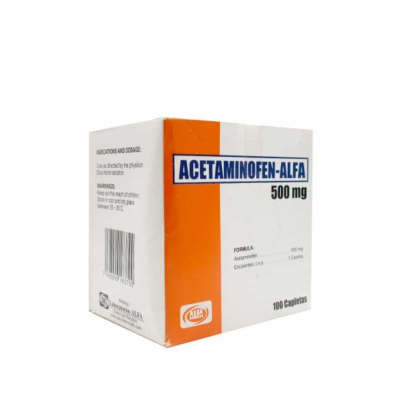 Acetaminofen ALFA 500mg